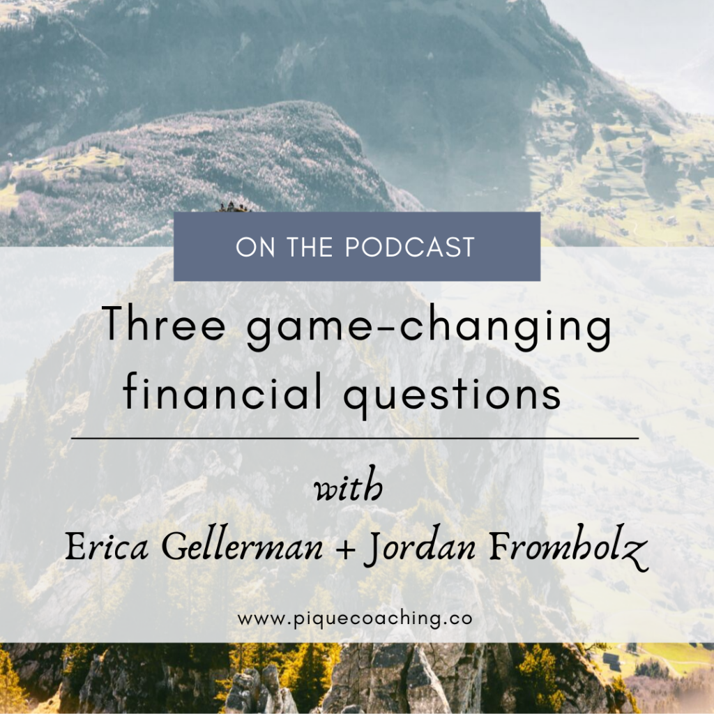 Financial life planning with Erica Gellerman + Jordan Fromholz