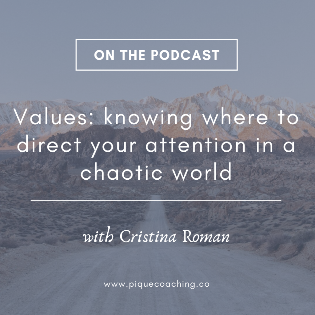 Values: knowing where to direct your attention in a chaotic world